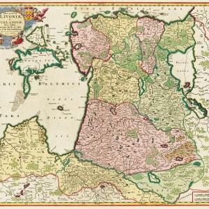 1705 Ducatuum Livoniae et Curlandiae Nova Tabula