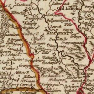 1750 Kilkenny by Robert de Vaugondy