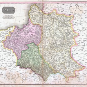 1818 Pinkerton Map of Poland - Geographicus