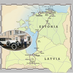 Baltic Vintage and Classic Car Rally map