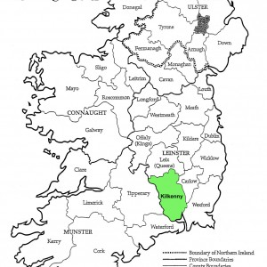 County Kilkenny Ireland Map