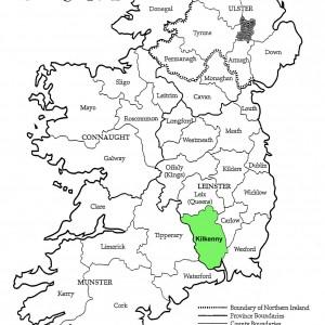 County Kilkenny Ireland Map