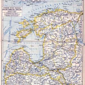 Russische Ostsee-Provinzen Livland, Esthland, und Kurland Meyerbaltikum